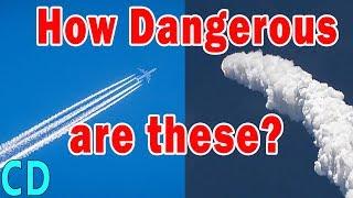 How Dangerous are Jet Contrails & Rocket Exhaust ?