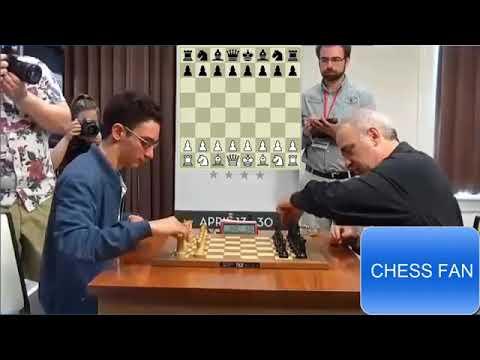 Attack Like Kasparov - Garry Kasparov Crushes Fabiano Caruana at Blitz Chess