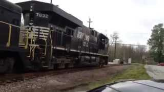 last norfolk southern train through mt orab ohio 4 25 14