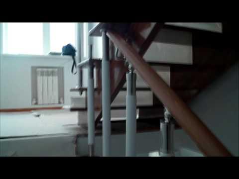 Комбинированное ограждение, перила для лестницы, ограждение на лестницу