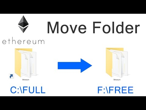 How To Move Default Ethereum BlockChain Folder To Another Drive Location