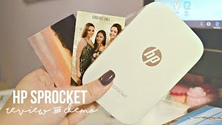 hP Sprocket REVIEW  DEMO 2017 / UNBOXING - Mini Printer Using Zero Ink