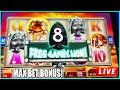 MAX BET BONUS RETRIGGERS! Mammoth Power Slot Machine Live Play at The Casino