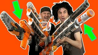 BIG BAD ZOMBIE NERF GUNS!!