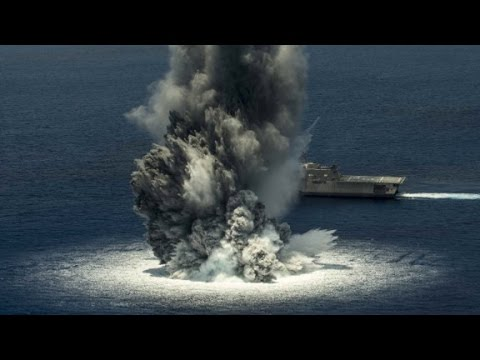 Navy tests ship against 10,000-pound explosive charge