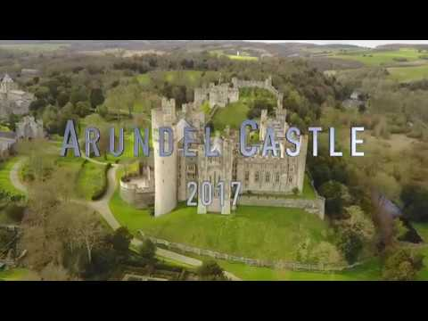 Best Dji Drone >> Bird's eye view of Arundel Castle in West Sussex - YouTube