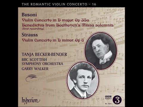 Busoni & Strauss—Violin Concertos—Tanja Becker-Bender (violin), BBC Scottish Symphony Orchestra