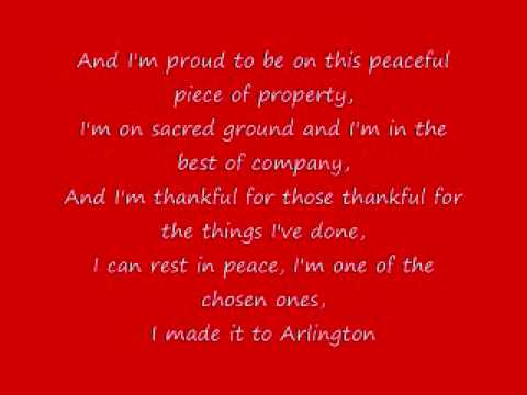 Trace Adkins Arlington Lyrics