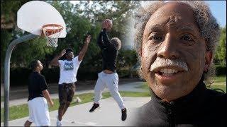 Disguised OLD MAN Schools teens in Basketball!