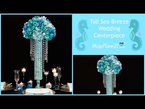 DIY Tall Sea Inspired Wedding Centerpiece | DIY Wedding Decorations | DIY Tutorial