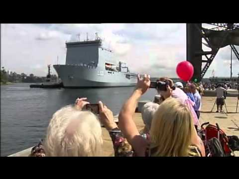 New amphibious ship arrives in Sydney