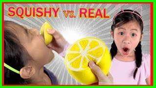 Squishy Food VS Real Food Challenge ( Fun TV )