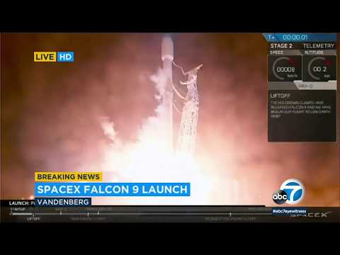 SpaceX Falcon 9 rocket launches from Vandenberg Air Force Base | ABC7