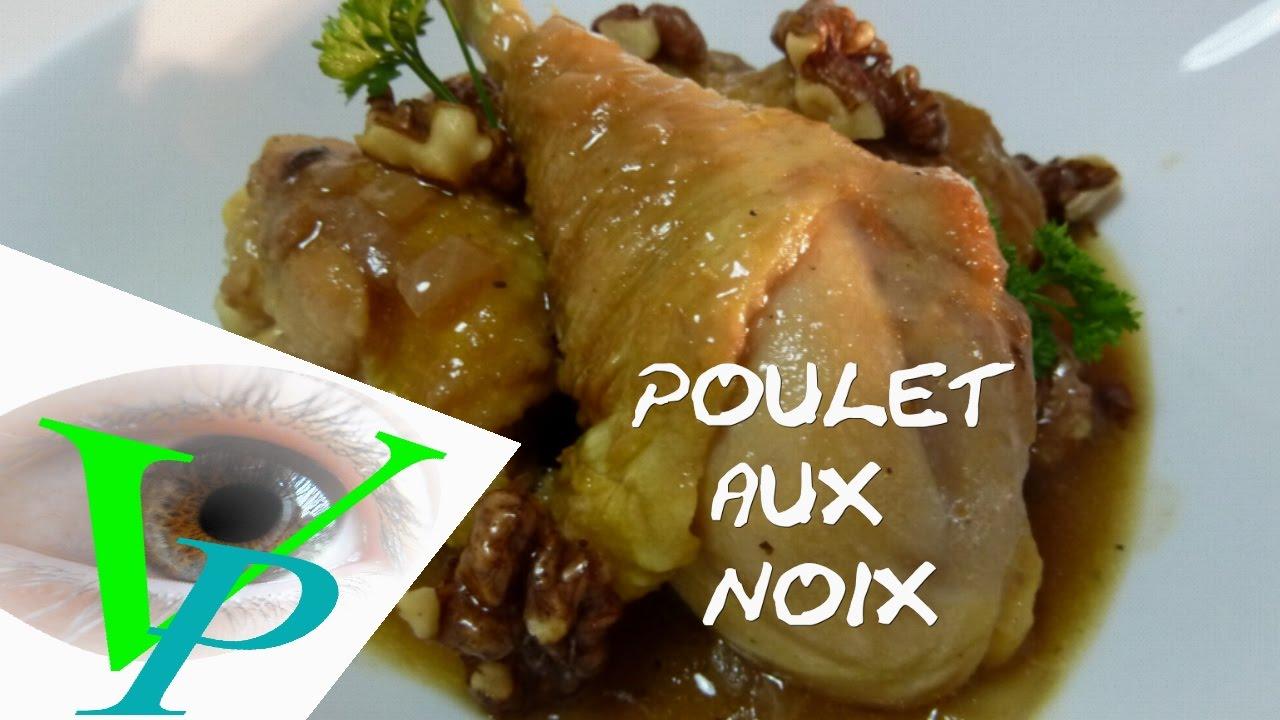 La recette du POULET AU NOIX