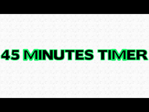 45 Minutes Countdown Timer Alarm Clock