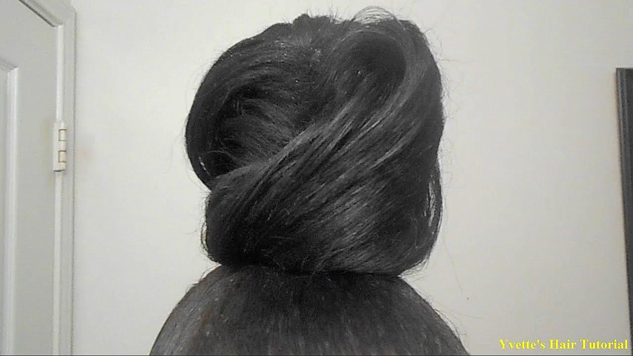 Messy Bun Tutorial Using Weave