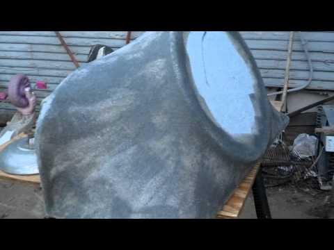 Fiberglass box (second stage fleece n resin)