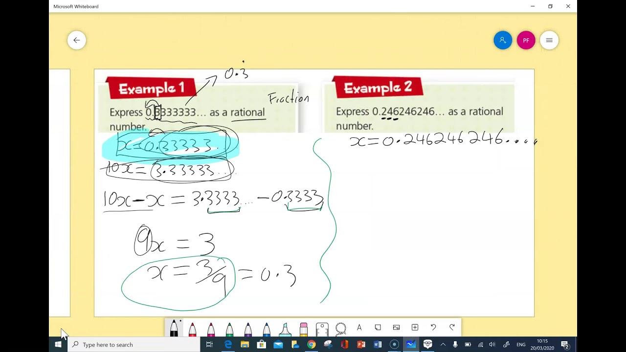 recurring decimals examples  youtube