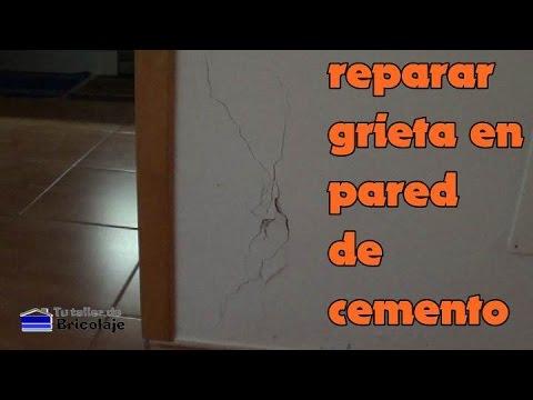 C mo reparar una grieta en una pared de cemento youtube - Cemento decorativo para paredes ...
