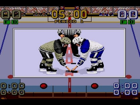 Cgrundertow Mario Lemieux Hockey For Sega Genesis Video Game Review