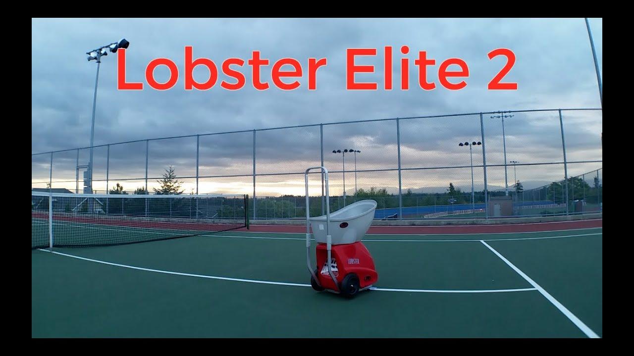 Lobster Elite 2 Tennis Ball Machine (In Action) - YouTube