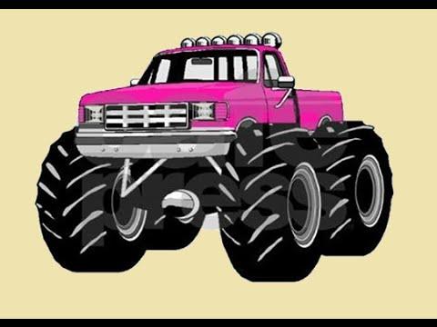 Monster Trucks For Children Kids Building A Monster Truck Pink Monster Truck Youtube