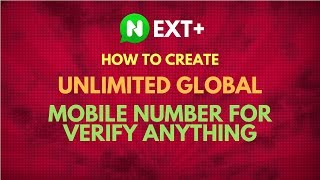 How to Create Unlimited Global Mobile Number for Verify Anything  - Bangla Tutorial