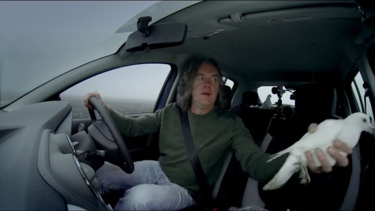 top gear james may throws a dove out of a car into a moving truck youtube. Black Bedroom Furniture Sets. Home Design Ideas