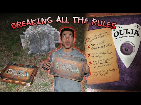 Thumbnail: BREAKING ALL THE RULES OF THE OUIJA BOARD IN CEMETERY // OUIJA BOARD IN CEMETERY GONE TERRIBLY WRONG