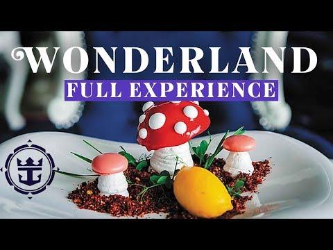 Wonderland Full Dining Experience - Appetizer, Entre & Dessert Menu | Royal Caribbean