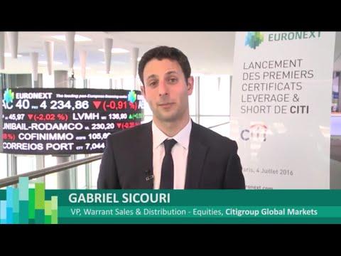 Citi célèbre le lancement de ses premiers Leverage & Short sur Euronext Paris