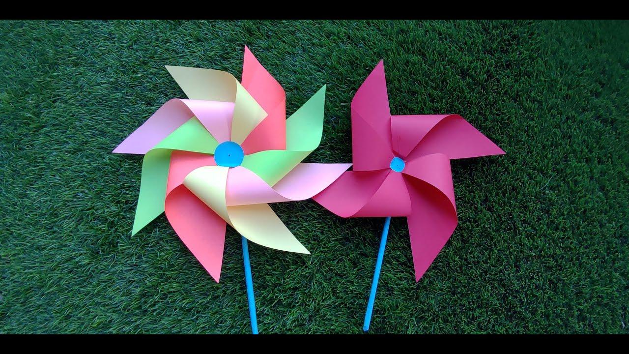 papercraft pinwheel How to make pinwheel / paper craft   YouTube