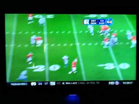Pre Season Lions vs Broncos Kyle Orton Int Dre Bly