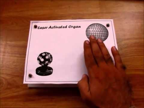 Light activated music circuit