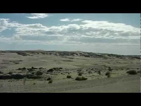 Driving through Namib Desert towards Luderitz, Namibia