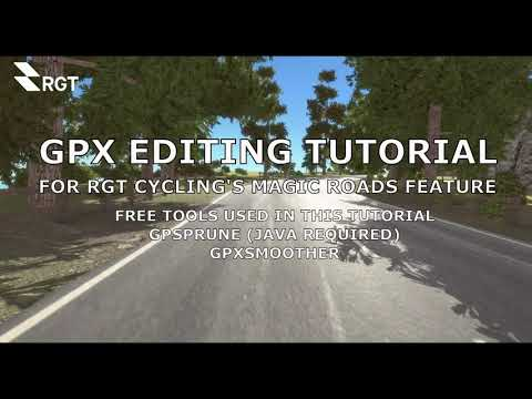 Download RGT Cycling. Magic Road gpx file editing tutorial