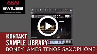 VST Boney James Tenor Saxophone Sample Library Kontakt 5