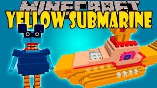 YELLOW SUBMARINE MOD - La dimensión mas rara que he visto xD - Minecraft mod 1.8 Review ESPAÑOL