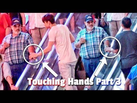 Touching Hands On Escalator Prank | Tag Team Edition
