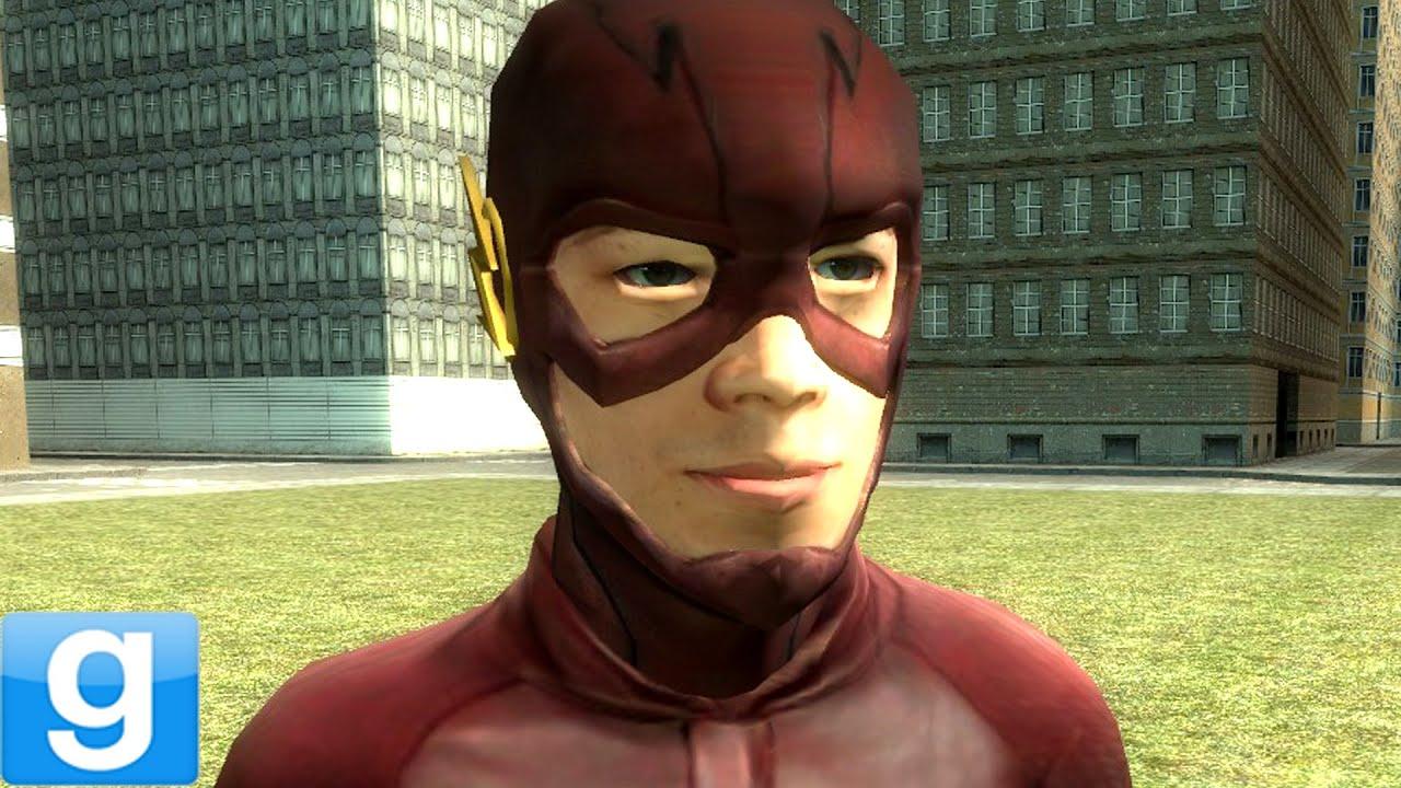 the flash movie gmod dc superhero playermodel mod