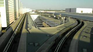 HD IAH TerminaLink FULL Tour Houston Intercontinental Airport Train People Mover Continental
