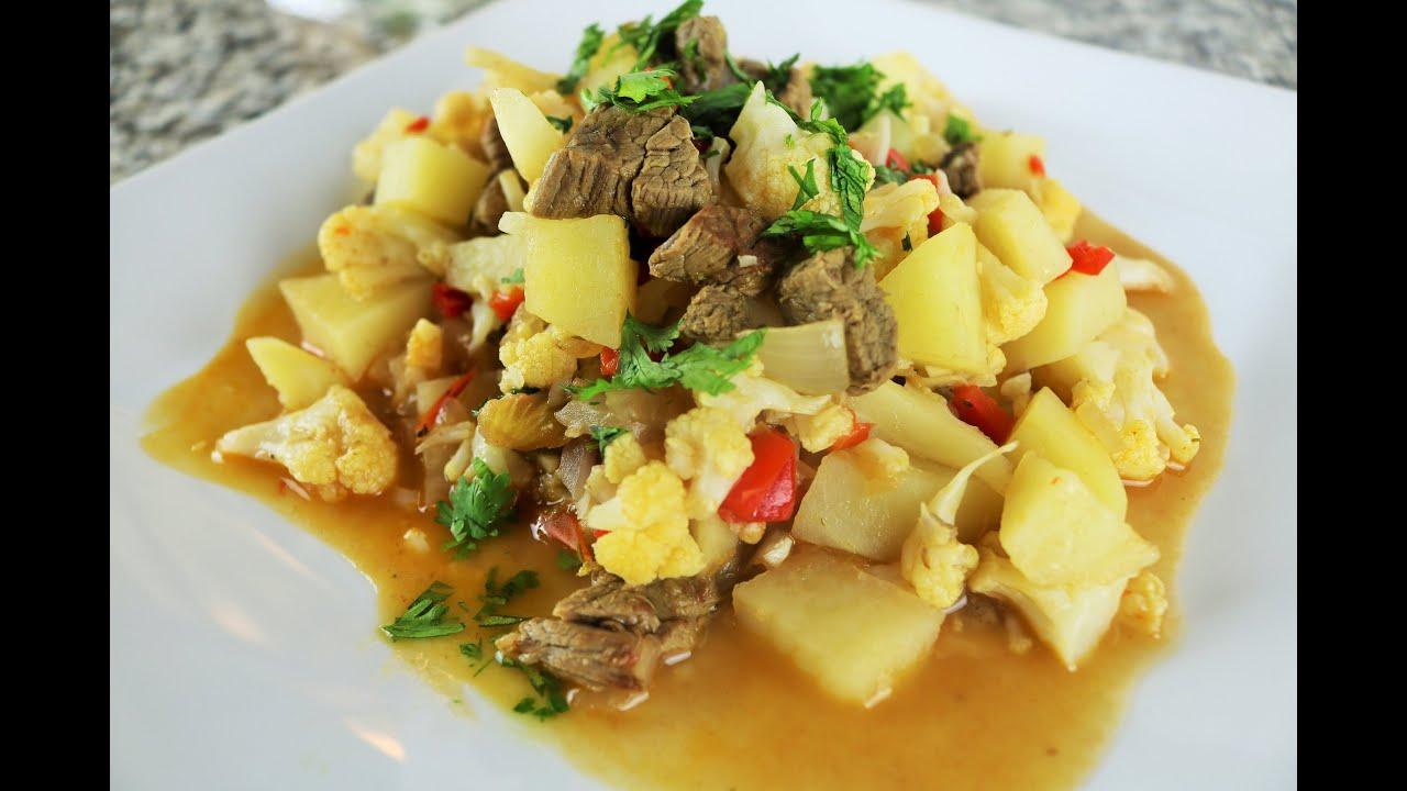 Receta peruana de coliflor guisada comida saludable for Comidas faciles y saludables