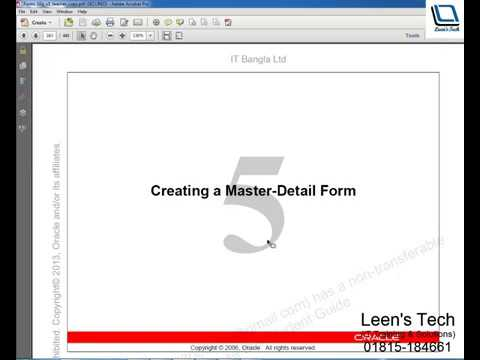 Oracle Forms 10g Tutorial in Bangla: Creating a Master Detail Form