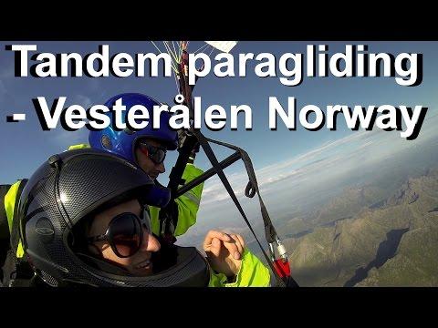 Tandem Paragliding Tow - Vesterålen Norway