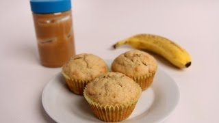 Peanut Butter & Banana Muffins Recipe - Laura Vitale - Laura in the Kitchen Episode 410