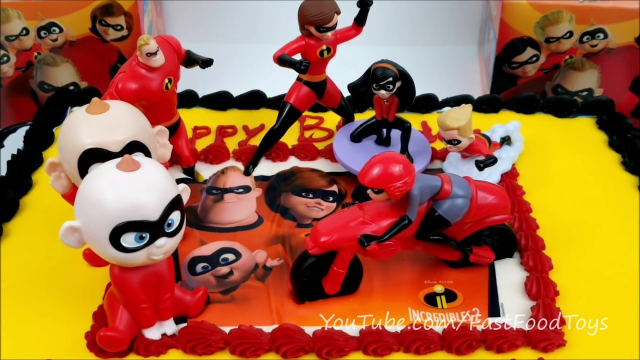 2018 McDONALDS INCREDIBLES 2 HAPPY BIRTHDAY CAKE MEAL TOYS TRANSFORMERS MY LITTLE PONY SAMS