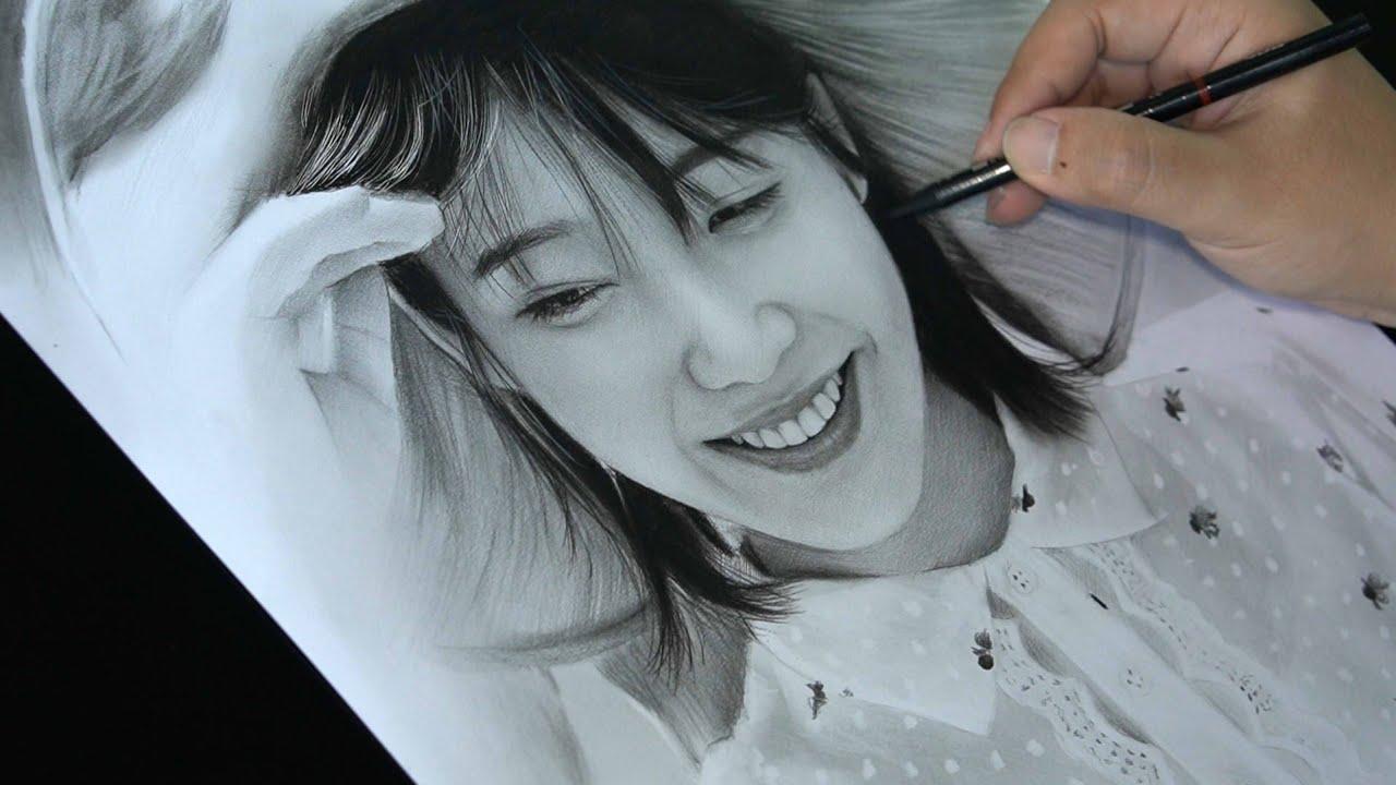 Drawing IU (Lee Ji-eun) with Pencils - JNB Lover