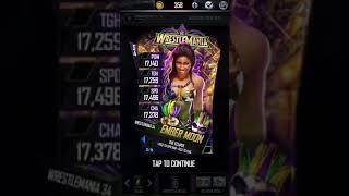 WWE SuperCard wm34 freebie