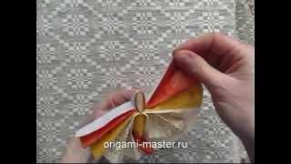 оригами бабочка из салфетки