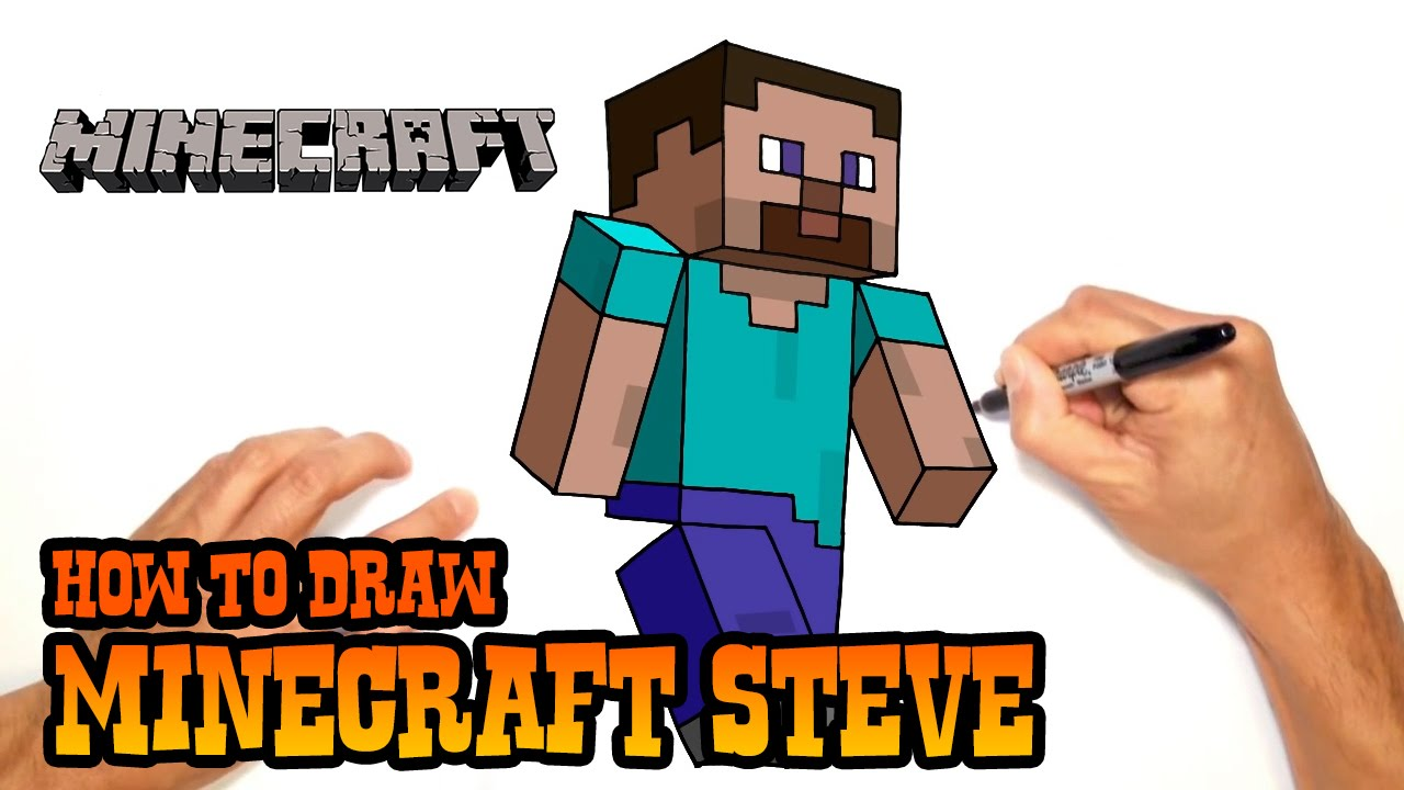 How To Draw Minecraft Steve Video Lesson Youtube